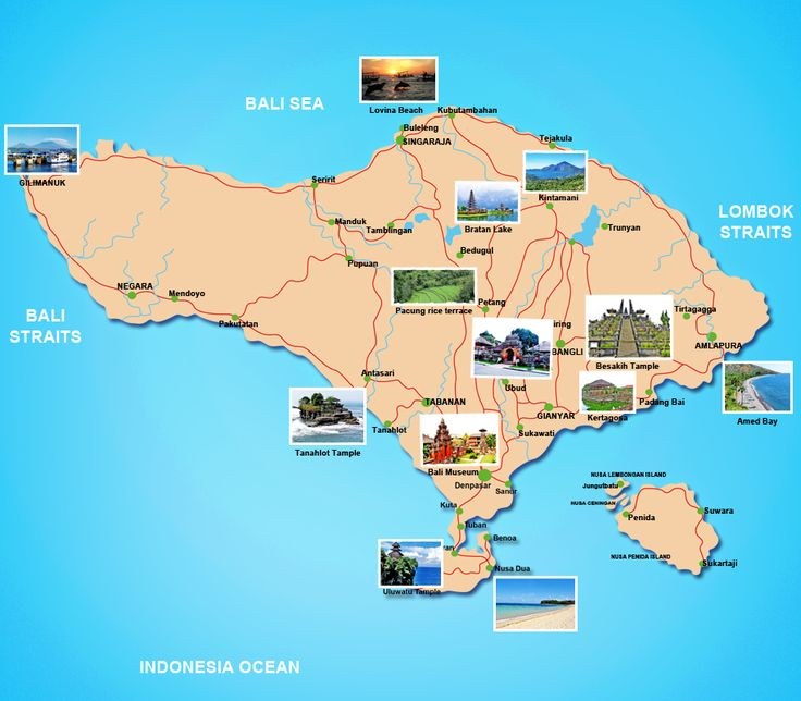 tourist map of bali indonesia   Bali Tour Packages « Sam Bali Car Rental