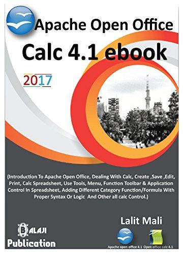 Apache Open Office Calc 4.1 Ebook: Introduction To Open Office Calc 4.1 PDF