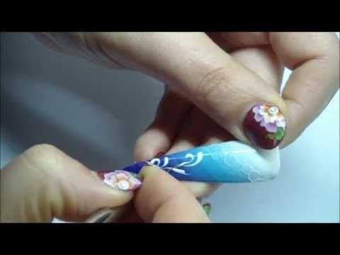 Nail art natalizia con foil! - YouTube