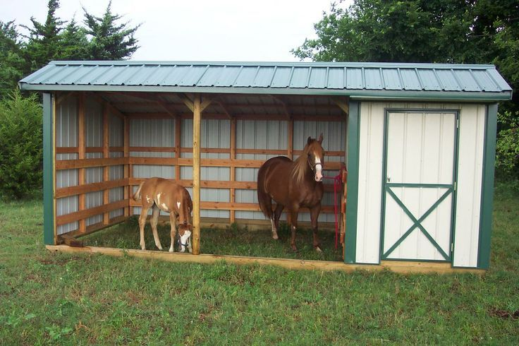 Simple economical budget priced portable horse shelter run in shed with feed room attached Horse run in shed plans design