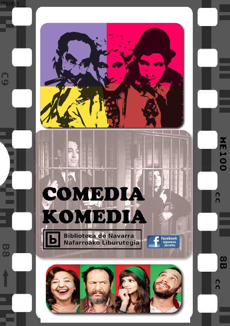 Queremos hacerte un poquito más feliz a través de esta selección de películas de humor. Podrás encontrar comedia española e hispanoamericana, europea, estadounidense, teatro cómico e incluso libros para conocer más este género cinematográfico. Pincha en sus títulos y localizarás su disponibilidad en el catálogo de las bibliotecas de Navarra.