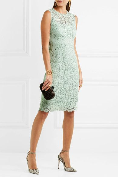 Mint corded cotton-blend lace Concealed hook and zip fastening at back 75% cotton, 15% rayon, 10% nylon; lining: 76% silk, 16% cotton, 4% elastane, 2% nylon Dry clean Made in Italy