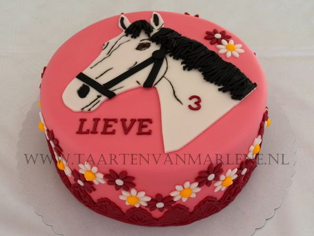Paarden taart voor een amazone.