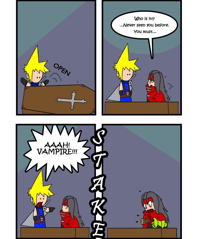 Cloud Strife And Vincent Valentine Fan Comic Final Fantasy Vii