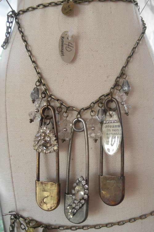 Want to try this with my diaper pin, I still have...58 yrs. old, and it still has an accoutrement of my grandmothers religious medals hanging from it. She always pinned it to her petty coat, or what she would call her brazzier ...usually with emergency cash pinned inside!