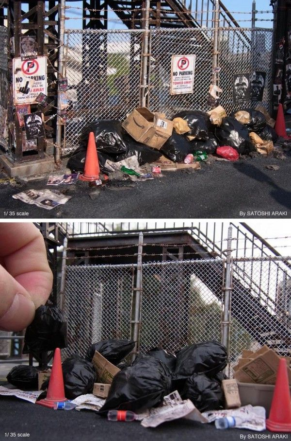 (1) Satoshi Araki miniatures - These Dioramas Look Real… Until the Artist Puts His Hand in the Shot