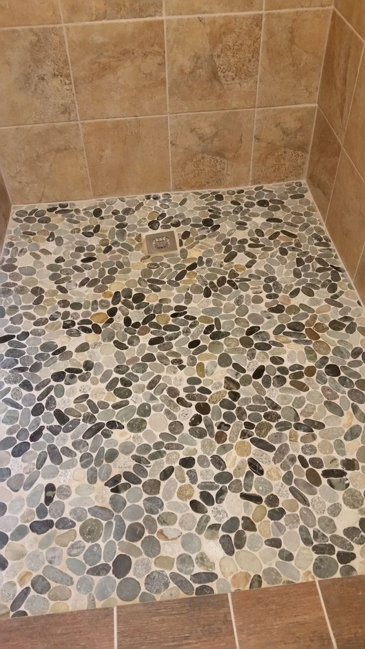 397 best shower pebble tile and stone tile ideas images on sliced cobblestone pebble tile dailygadgetfo Images