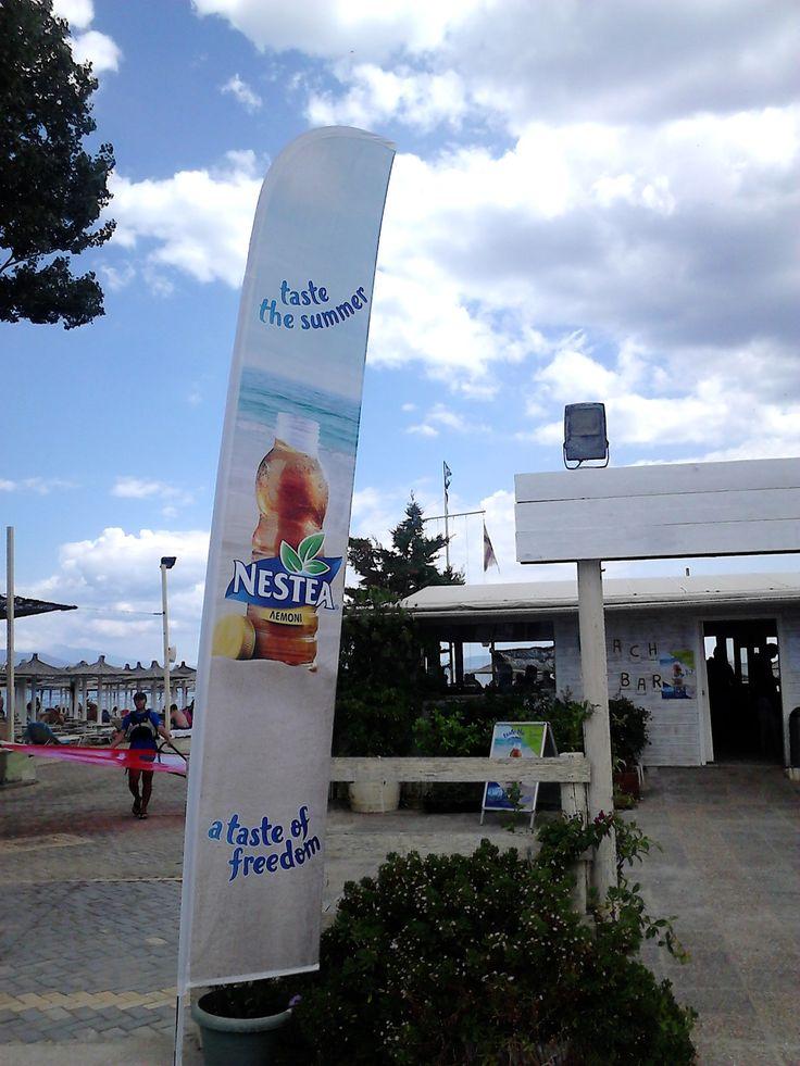 Flexi beachflags NESTEA - Size: Large - Product name: Wing