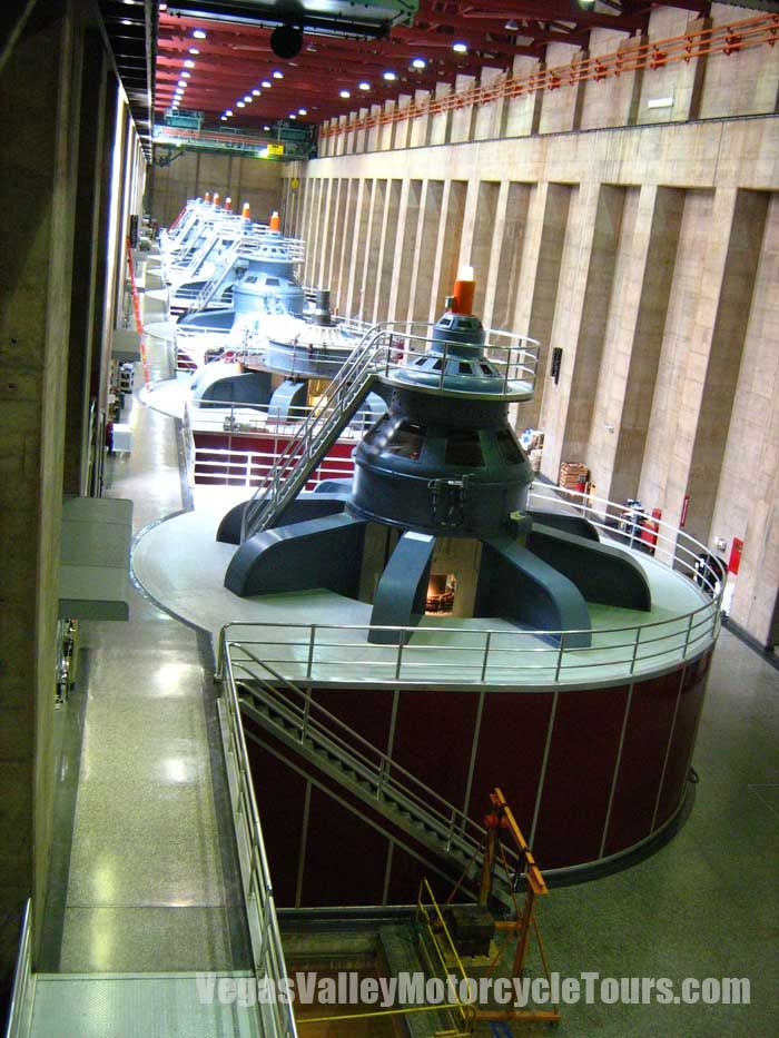 Hoover Dam Generators--Pretty eerie being down inside the dam itself.  Constructed from 1931-1935.