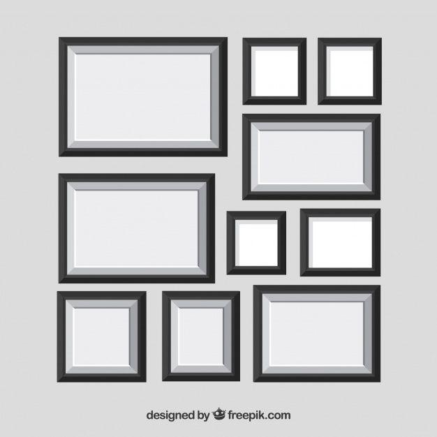 Lade Fotorahmencollage Mit Flachem Design Kostenlos Herunter In 2020 Collage Rahmen Flaches Design Collage