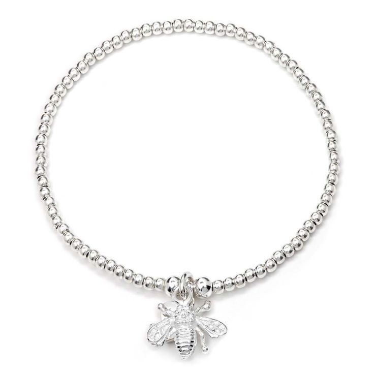 The 'Bee' Charm Bracelet was designed by Annie Haak to symbolize diligence and tenacity and to commend all who wear it for their hard work and effort. Free Delivery