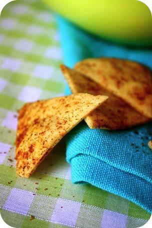Tortilla chips maison, parce qu'on peut aussi limiter les dégats à l'apéro   Ligne & Papilles