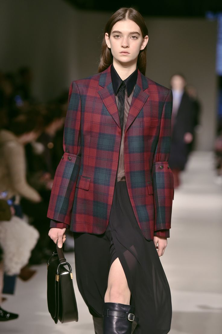 Victoria Beckham's scotch plaid in red and green.  Check Mate: Plaid Is Fall 2017's Must-Have Print Photos | W Magazine