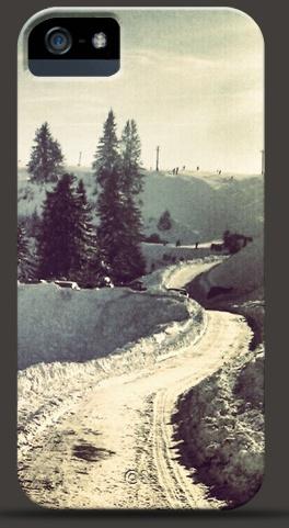 Snow Road iPhone Case