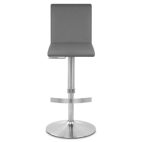 Deluxe Brushed High Back Stool Grey - Atlantic Shopping