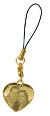 Handyanhänger Gold Herz