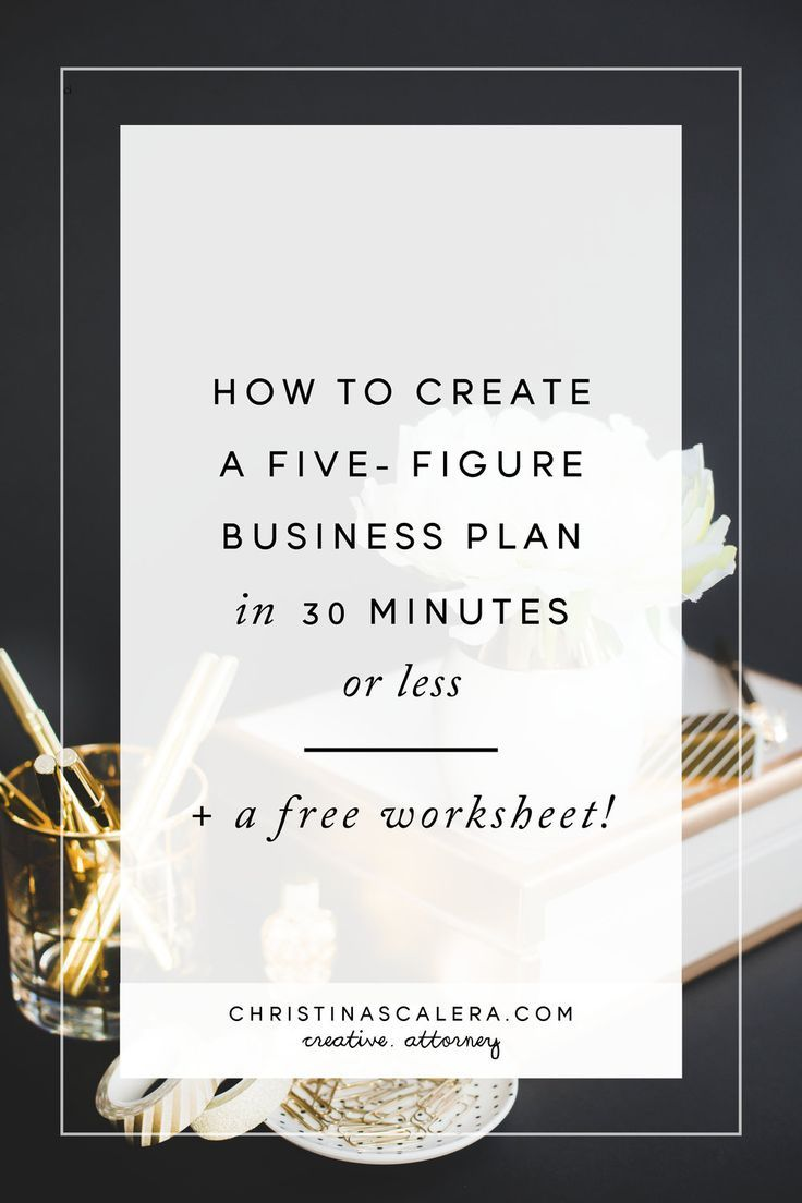 Christina ScaleraHow to Create a 5-Figure Business Plan in 30 Minutes or Less