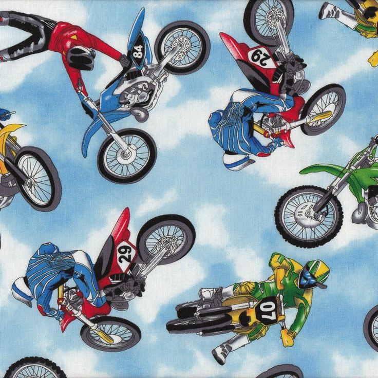 8 best Motorcycles Motorbikes Motocross Fabric images on Pinterest ... : motorcycle quilting fabric - Adamdwight.com