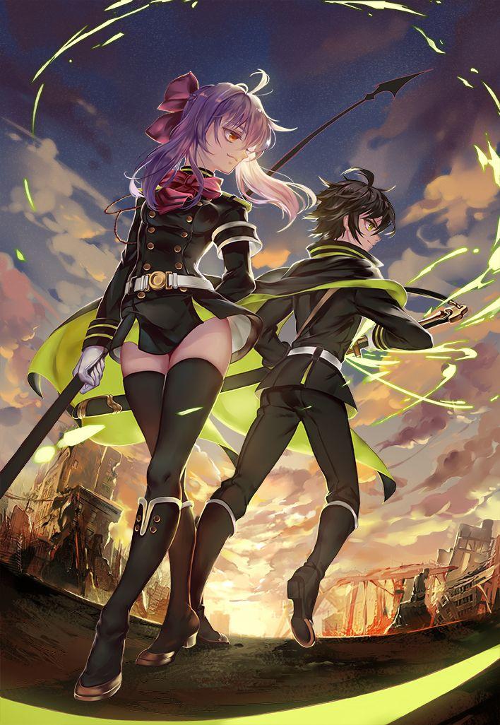 Owari no Seraph | Seraph of the End: Vampire Reign | Hiiragi Shinoa, Yuuichirou Hyakuya | Anime | Fanart | Sailormeowmeow