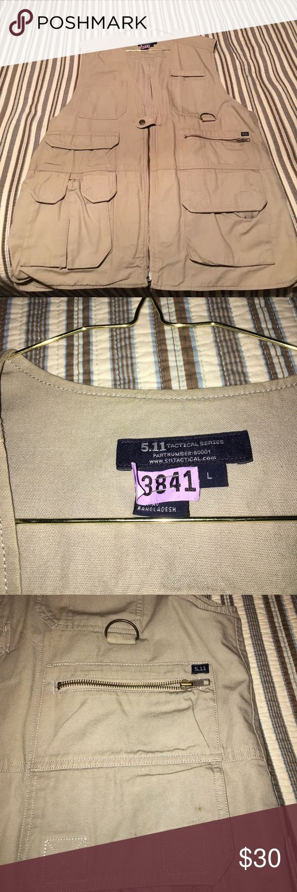 Tactical/photographers vest. Practically brand new. Everything an operator needs and nothing you don't. More tan khaki than just tan. 5.11 Tactical Other