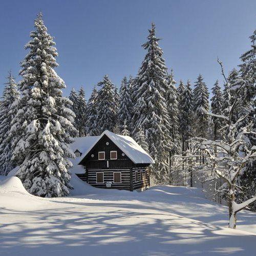 Chaloupka v  zime - Jizerské hory
