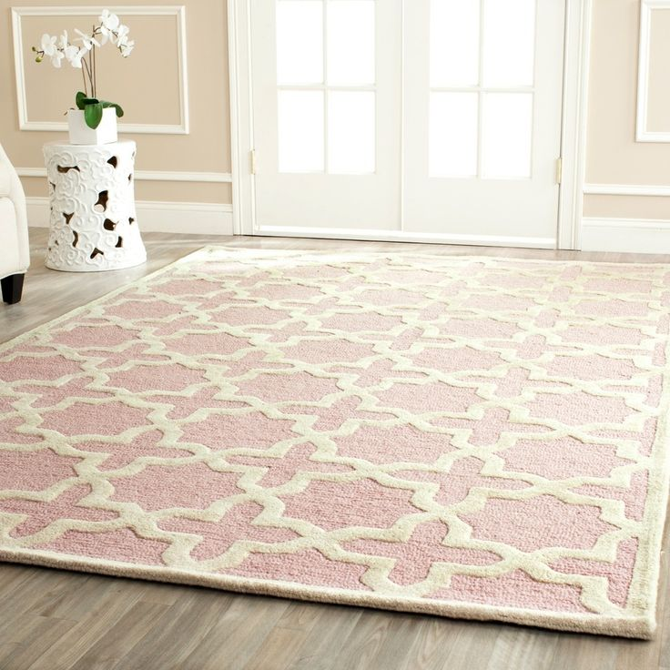 Safavieh Handmade Moroccan Cambridge Light Pink Wool Rug (4' x 6') | Overstock™ Shopping - Great Deals on Safavieh 3x5 - 4x6 Rugs