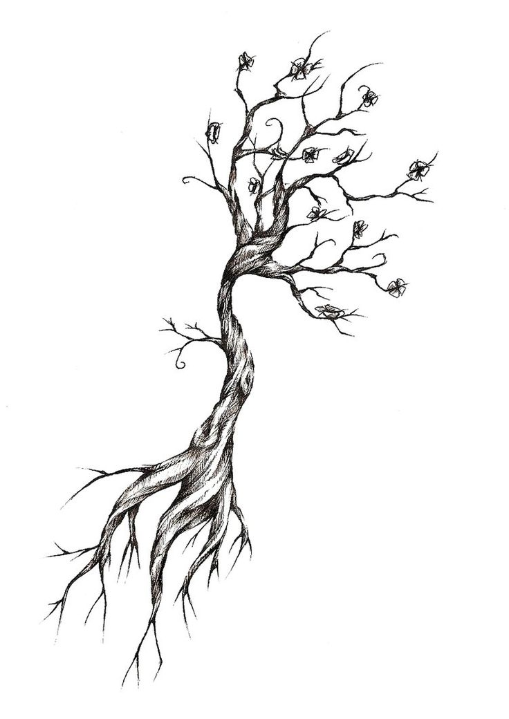 I want something like this on my back, maybe. I love seeing the big, elaborate tree tattoos spanning across peoples' backs