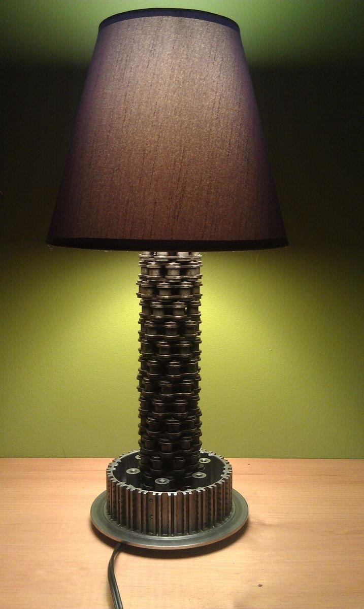 78 best lighting images on pinterest lamps table lamps and custom made motorcycle lamp aloadofball Choice Image