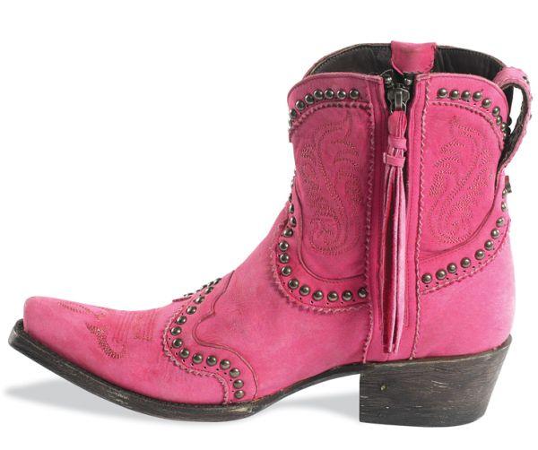 Garcitas Cowboy Boots in Pink
