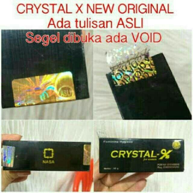 Saya menjual Crystal X Original  Nasa 100% / CrystalX seharga Rp120.000. Ayo beli di Shopee! https://shopee.co.id//45413162/