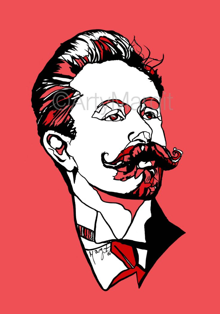 Russian composer and pianist Alexander Scriabin Giclee print poster of handmade ink drawing Gift for Musician and people who love music by ArtyMargit on Etsy