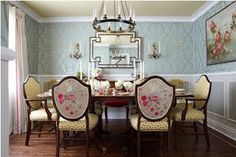 Sarah 101: Jewel Box Dining episode. Added wainscoting, floor detail.