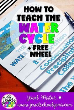 HOW TO TEACH THE WATER CYCLE FOR KIDS by Jewel Pastor of www.jewelschoolge... | Every living thing needs water to survive, which makes an understanding of the water cycle very important! Read about the ways you can make learning about the water cycle fun + download a water cycle wheel FREEBIE when you become a subscriber. | water cycle