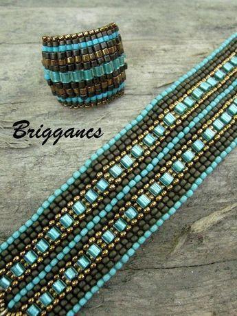 peyote Bracelet includes square beads