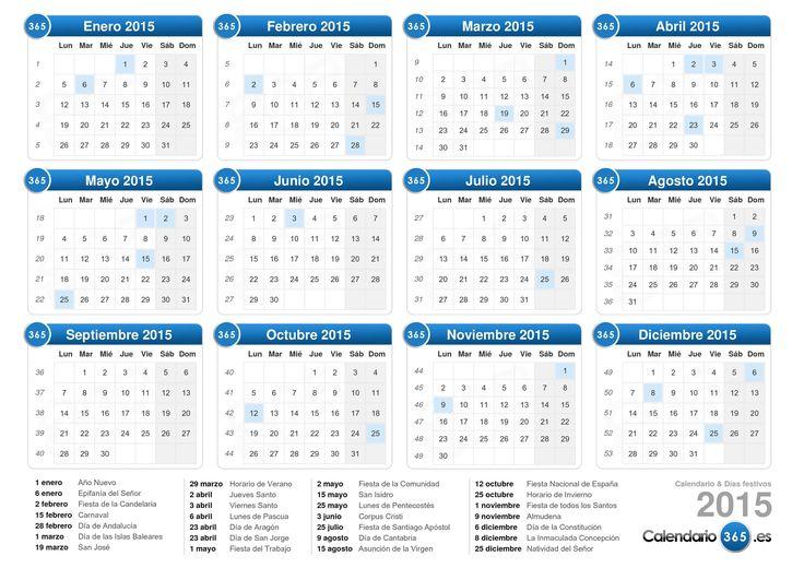 calendario fiscal 2015 con numero de semana - Google Search