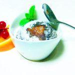 """""""Mug Cake"""" di Farina di Carruba dei Monti Iblei con cuore di arancia amara di Lentini"""