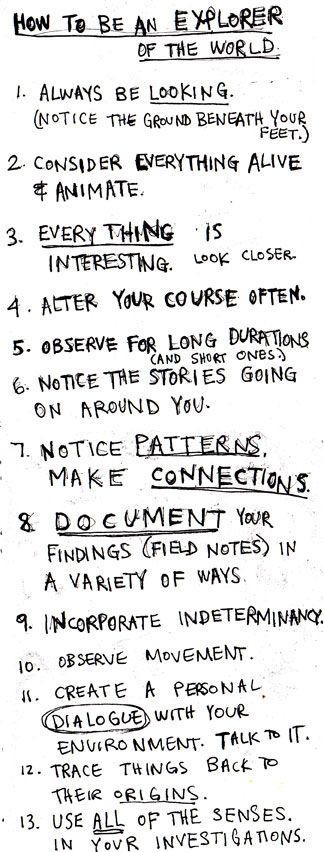 A.E. Stalling's Presto Manifesto! Jack Kerouac's Belief & Technique for Modern Prose. Natalie Goldberg's 'Rules of Writing Practice' in Wild Mind. Charles Bernstein's Manifest Aversions, Conceptual Conundrums, & Implausibly Deniable Links. Copyblogger's 10 Steps to Becoming a Better Writer. Keri Smith's How to be an Explorer of the World. What's the difference between a writing manifesto…