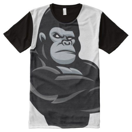 angry  gorilla All-Over-Print T-Shirt - tap, personalize, buy right now!