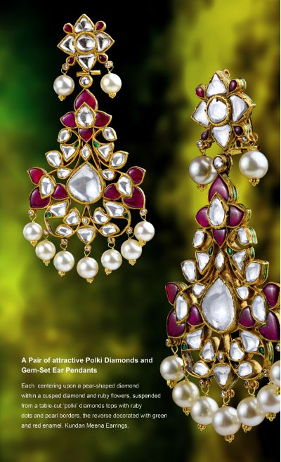 Arnav Jewels -- beautiful kundan earrings with studd,=.. creative design & shine!