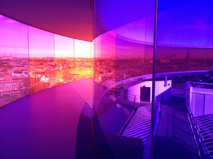 """Your Rainbow Panorama"" di Olafur Eliasson in ARoS Art Museum a Århus"