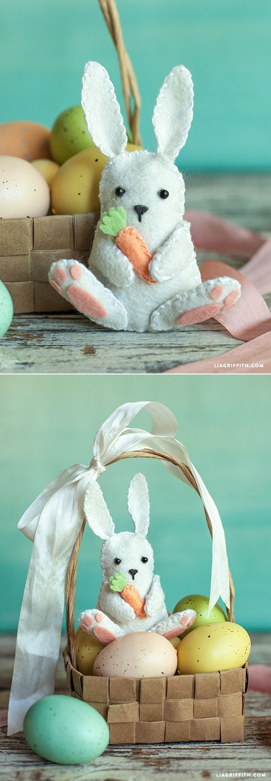 DIY Felt Easter Bunny - FREE Sewing Pattern and Tutorial