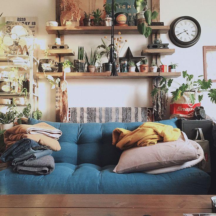 3Coins/IKEA/ローテーブルDIY/観葉植物/NO GREEN NO LIFE/ディアウォール…などのインテリア実例 - 2016-12-10 18:59:03 | RoomClip(ルームクリップ)
