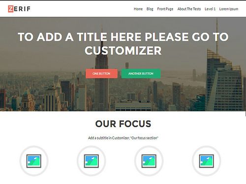 Zerif Lite WordPress Free Themes