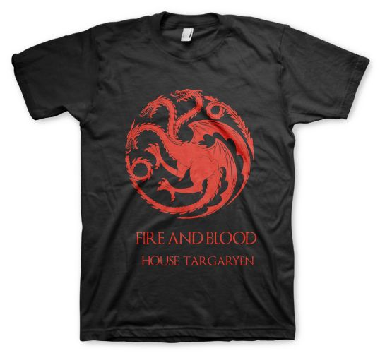 game of throne remeras color animal house targaryen fire and blood