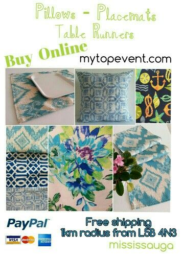 PG Pillows - placemats & Table Runners !  Decorate your home with this beautiful geometric prints Accents #home #tablerunner #pillows #placemats #accents #decor #handmade #beautiful #mississauga #saugacity #Sauga #toronto #streetsoftoronto #gta #oakville #canada #goodprices #handmade #madeincanada #cheerful #colours #PILLOWS  #spring #home  #flowers and #stripes #beautiful  #striking #trendingstyle #prints #geometrics Feel free to visit our website  Contact us ⤵  mytopevent.com