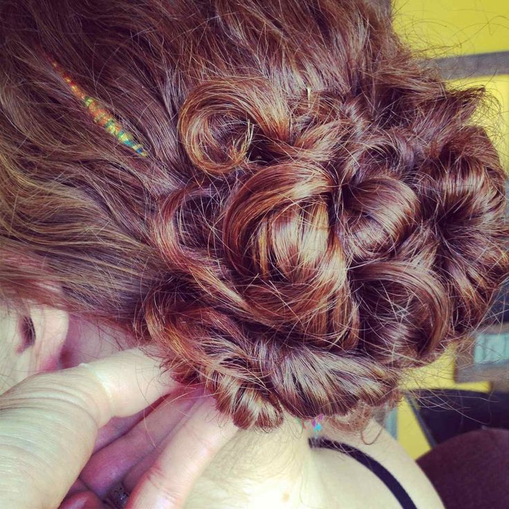 Up Dos For Curly Hair Fashionista Pinterest