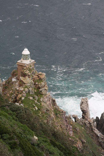 "Cape Point Lighthouse	 ""The new"" Cape Peninsula			South Africa	-34.357144,18.496975"