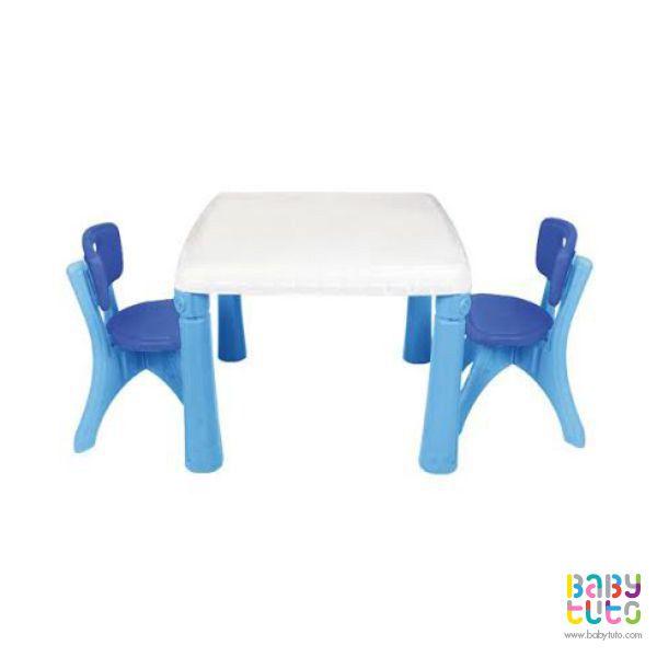Juego de mesa azul con 2 sillas, $29.990 (precio referencial). Marca Kidscool: http://bit.ly/1HGyiOb