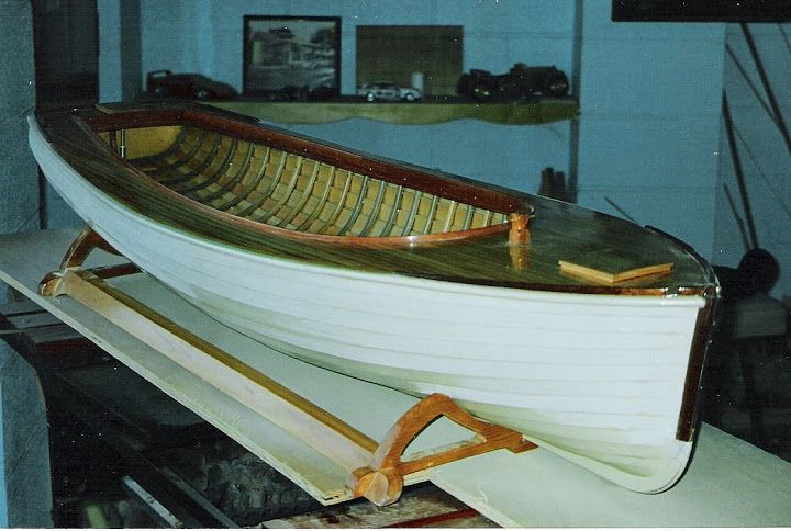 The completed hull of my pilot launch 'Mary Graham' ready for fitout