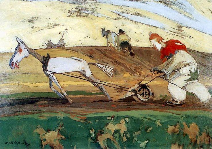 Orka. 1905. Olej na płótnie. 70 x 100 cm. Muzeum Narodowe, Warszawa. http://www.pinakoteka.zascianek.pl/Wojtkiewicz/Images/Orka.jpg